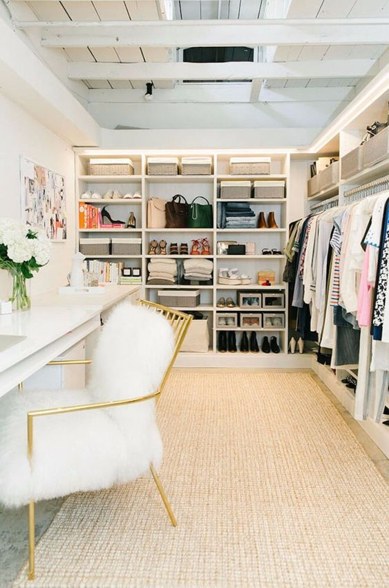 Turn A Walk-in Closet Into a Bedroom Office Ideas
