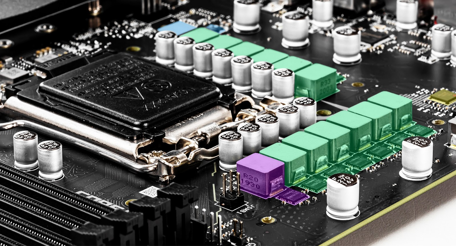 the ports of the motherboard