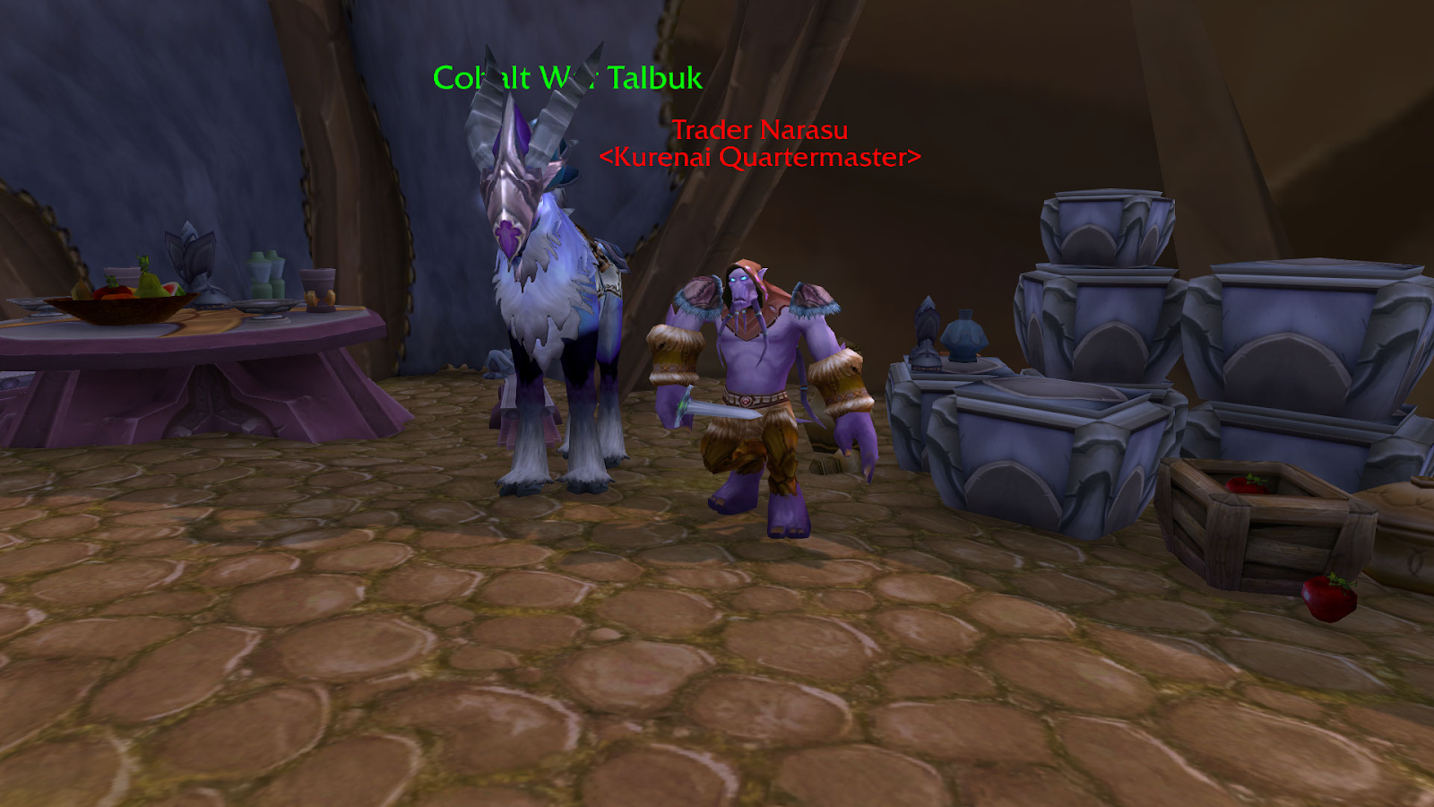 Alliance vendor who sells the Cobalt War Talbuk at Exalted
