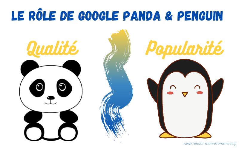 Le rôle de Google Panda et Penguin : qualité et popularité