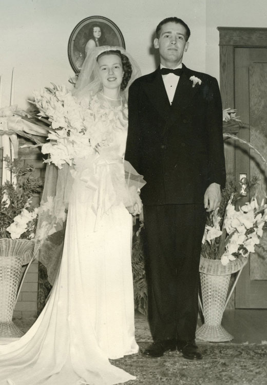 Jean and Del's wedding day, Sept. 1, 1946