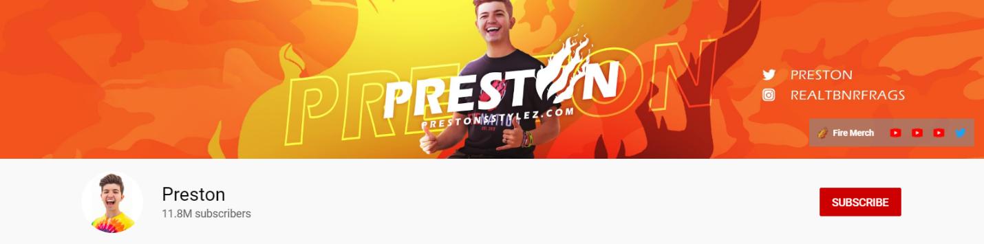 Preston YouTube channel