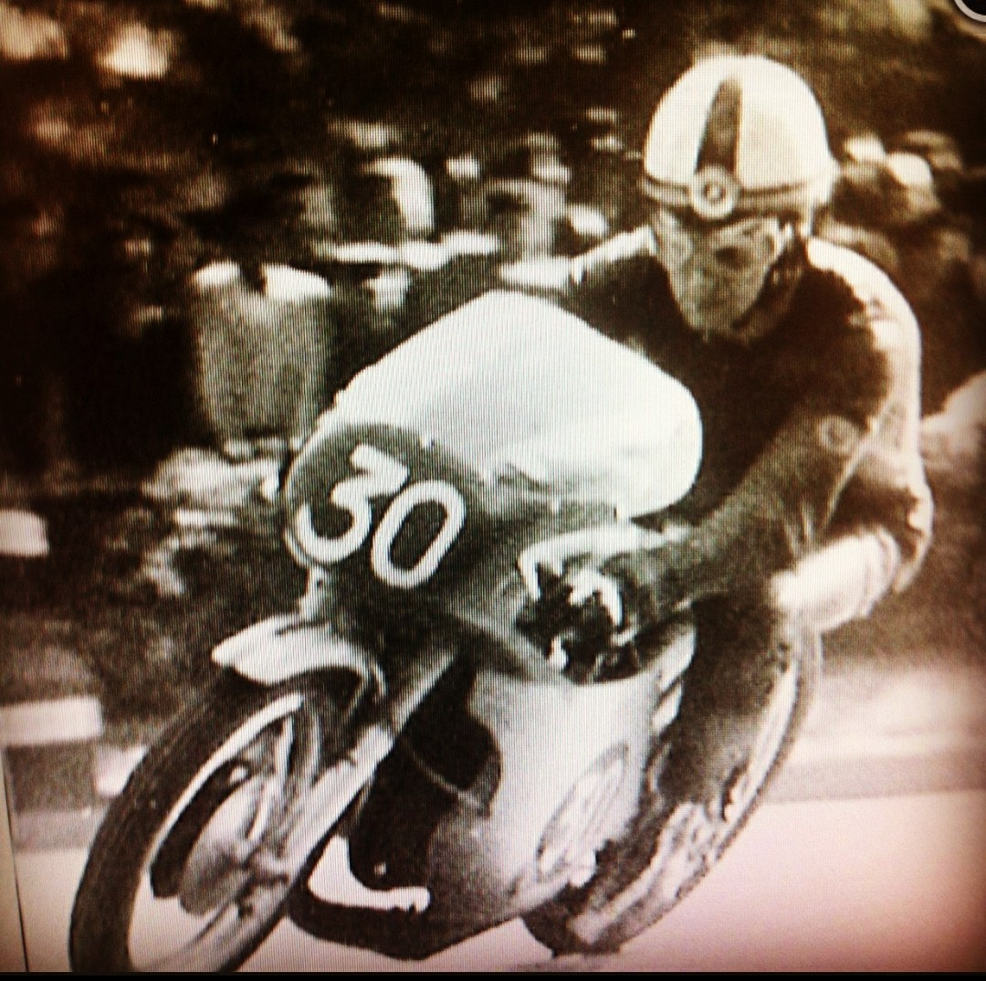 Jose Luis' father as a motorbike racer