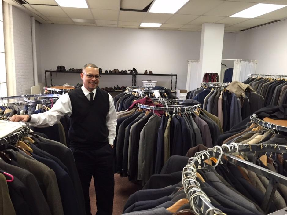 Malik at the Suited For Men showroom, Cleveland