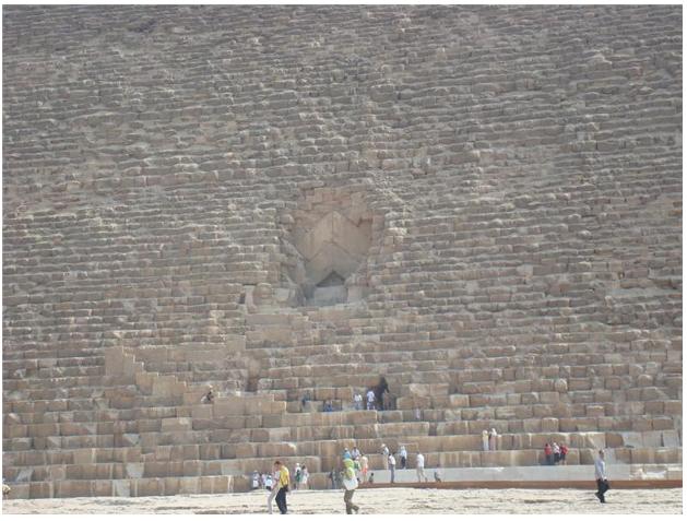 заглубленный вход во вторую закрытую пирамиду