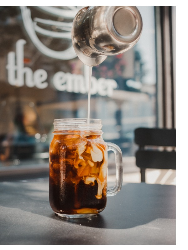 cold brew coffee served in a café