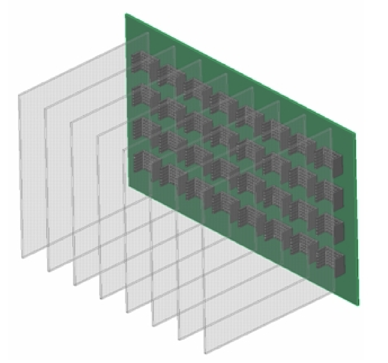 Component Placement Strategies In Multi Board Pcb Systems Printed Circuit Fabrication Single Layer To High 26 Layers The Shelf Is Populated With Pcbs Loaded Vertical Orientation And They Are Connected Using A 19 X 12 Backplane That Assembled At Rear Of