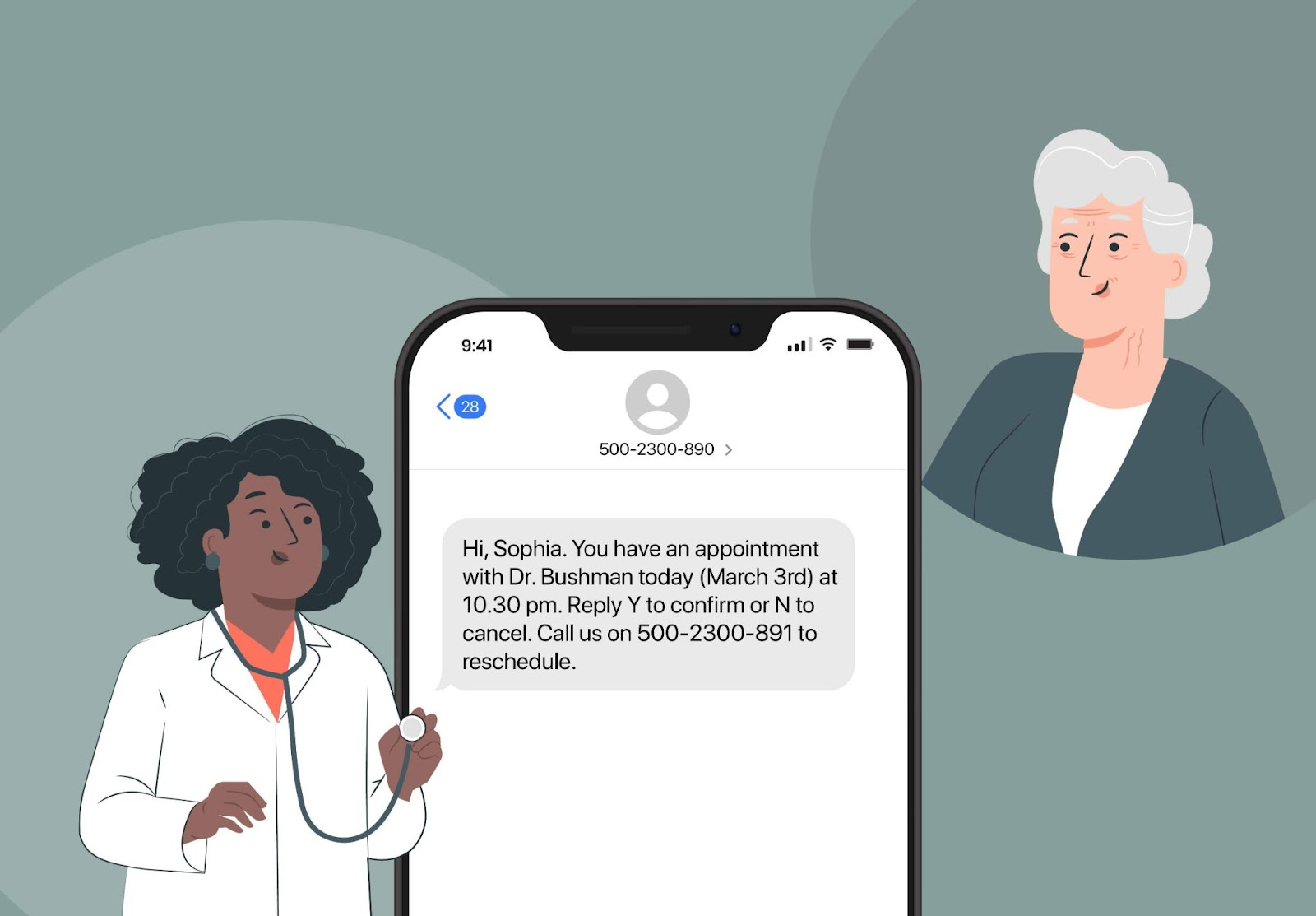 doctor appointment reminder text message
