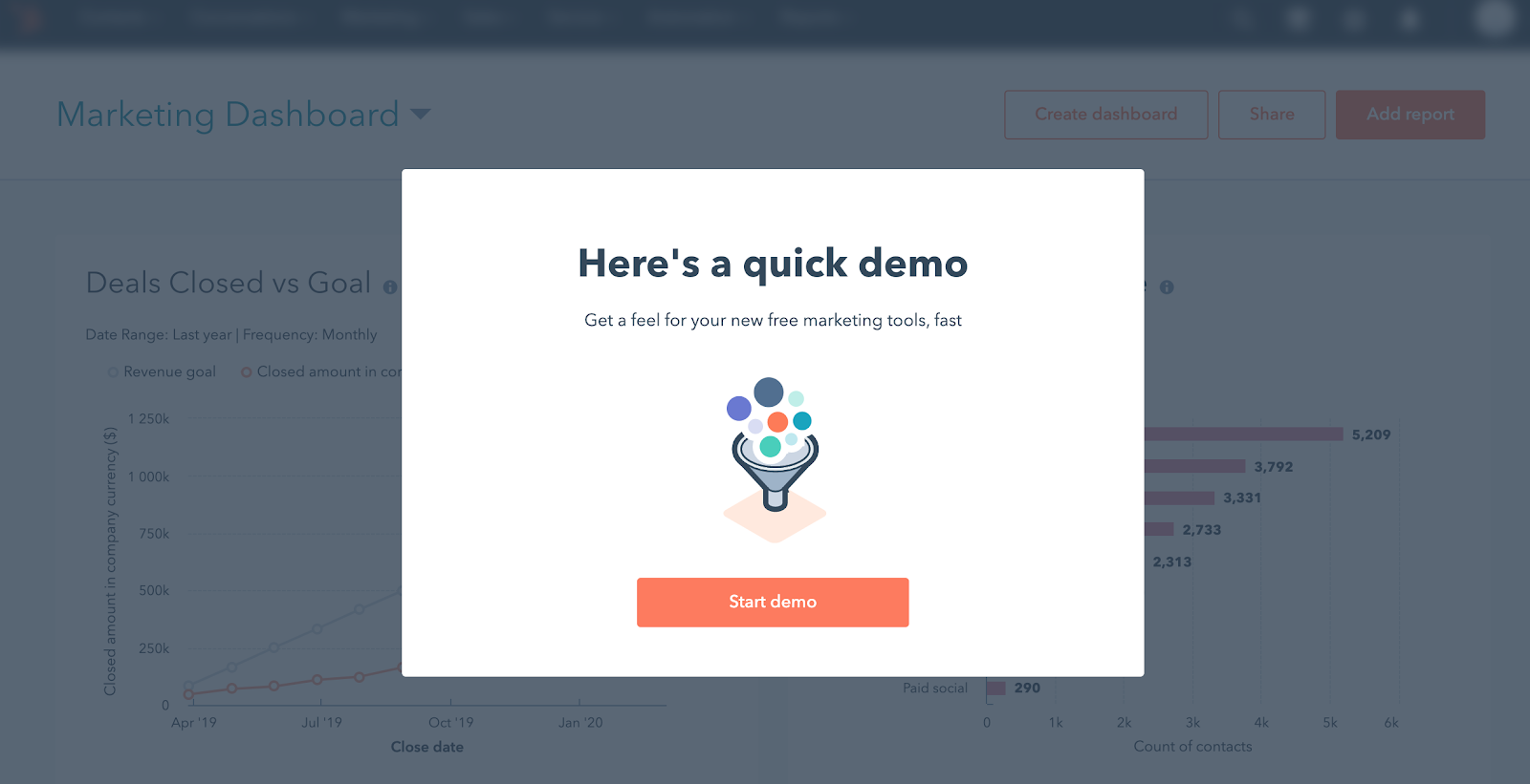 HubSpot onboarding: reducing customer churn starts with the product demo