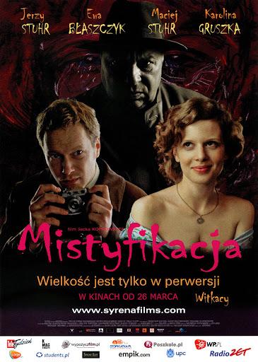 Przód ulotki filmu 'Mistyfikacja'