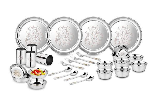 Classic Essentials Stainless Steel Glory Best Dinner Sets In India
