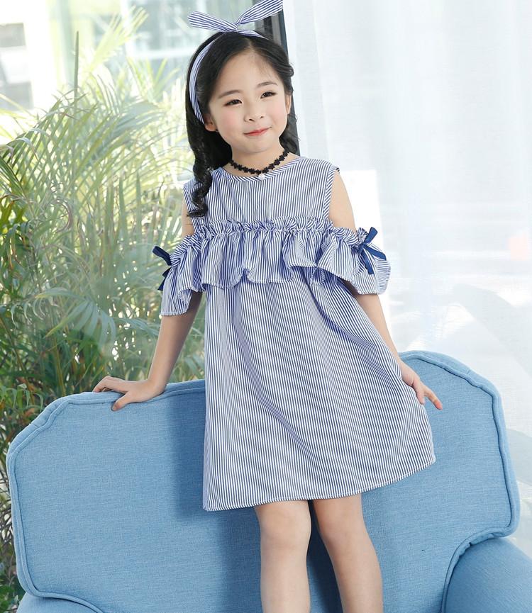 Sukienka w paski dla dziewczynki