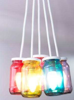 Jam Jar Lamp