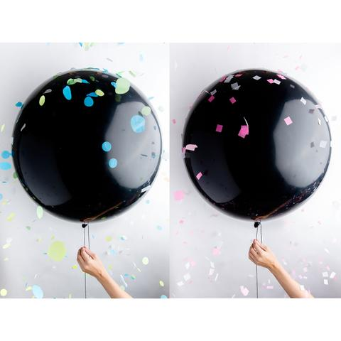 Image result for black gender reveal balloon