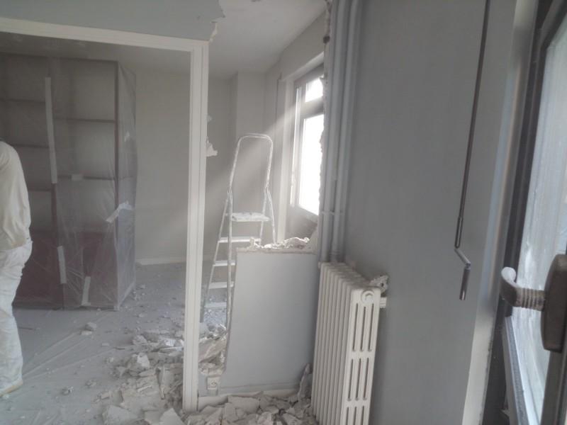 demolition of wall