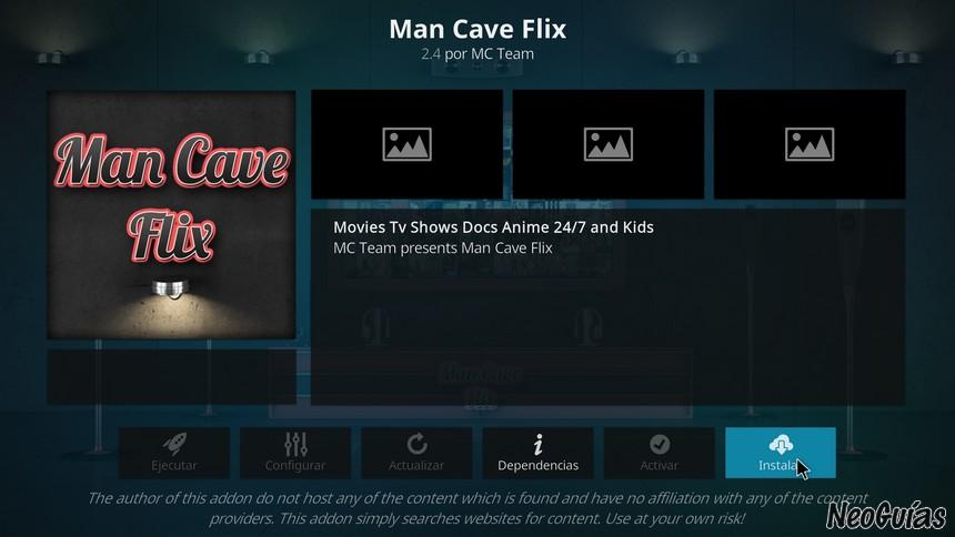 man cave flix anime addon for kodi