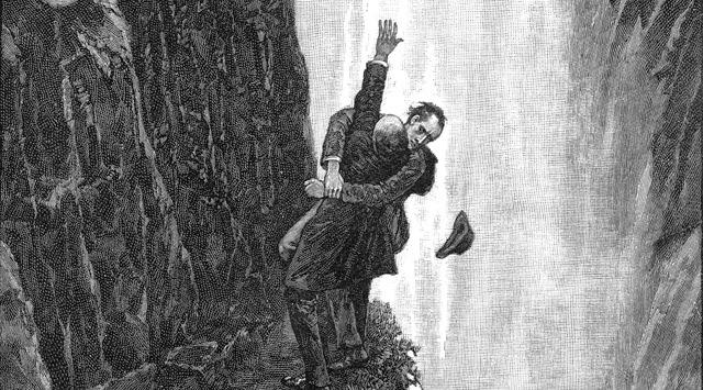 Sherlock Holmes en las cataratas de Reichembach