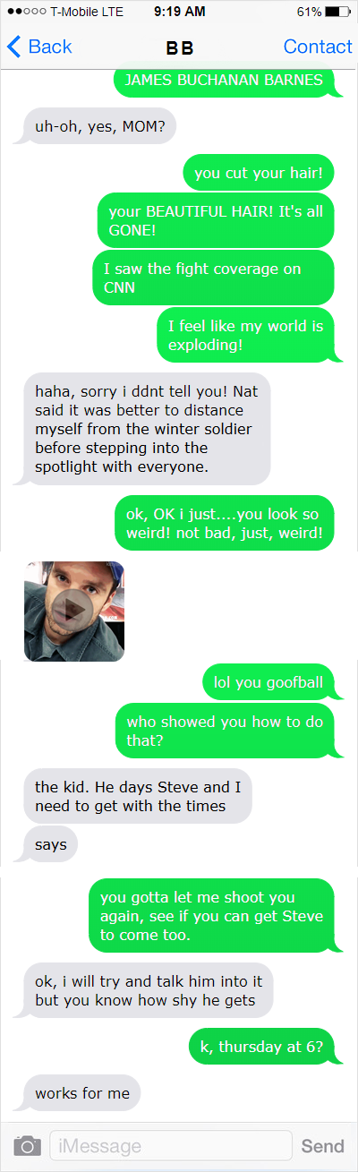 texts from bb - MsPooslie - Captain America (Movies) [Archive of Our