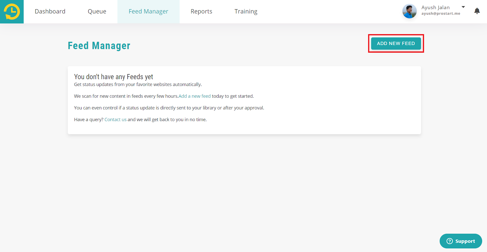 feed manager -  recurpost - social media scheduler