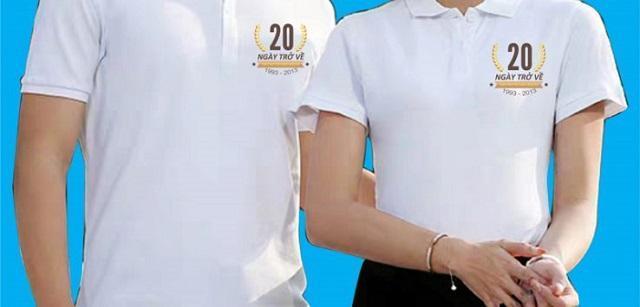 Mẫu áo đồng phục kỷ niệm 20 năm ra đường