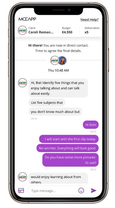 Campanie prin MOCAPP Chat