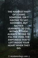 The grief of having someone you love pass away