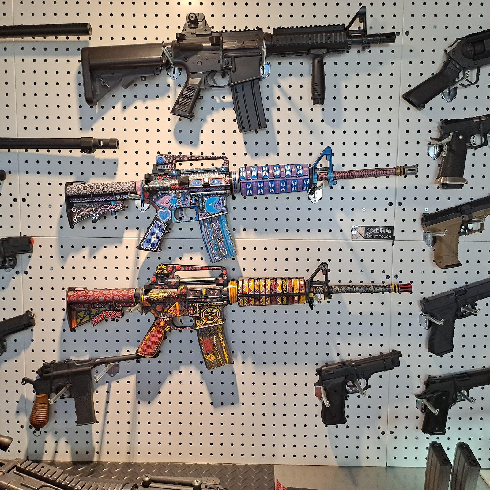▲槍械展覽▲