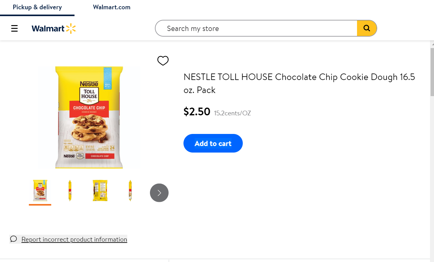 Walmart Grocery Store Product Details