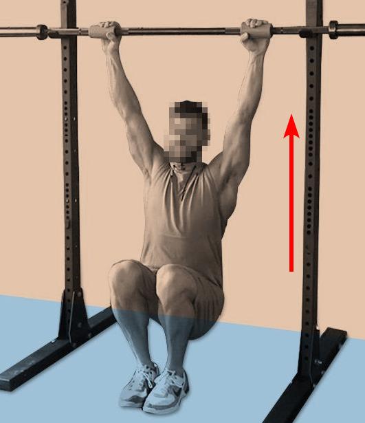 Asystowane podciąganie na drążku (assisted pullup)