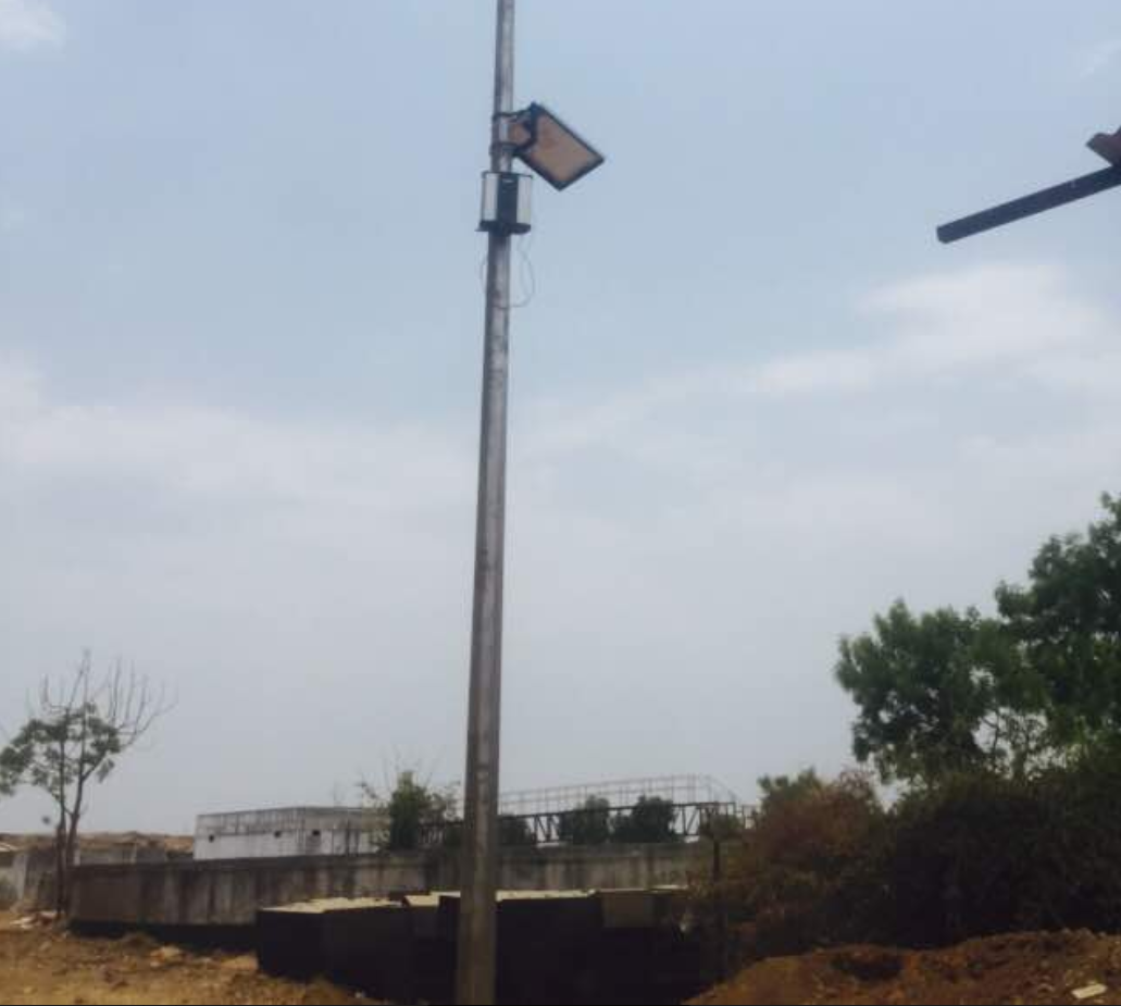 Odosense installed on a smart pole in Muj Mahuda Landfill.