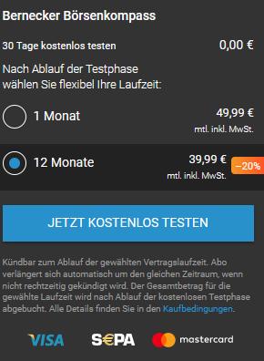 Bernecker Börsenkompass Preise