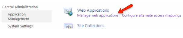 Manage Web Applications Settings