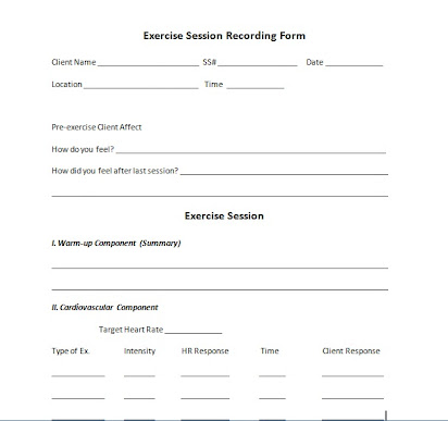 free personal training forms templates