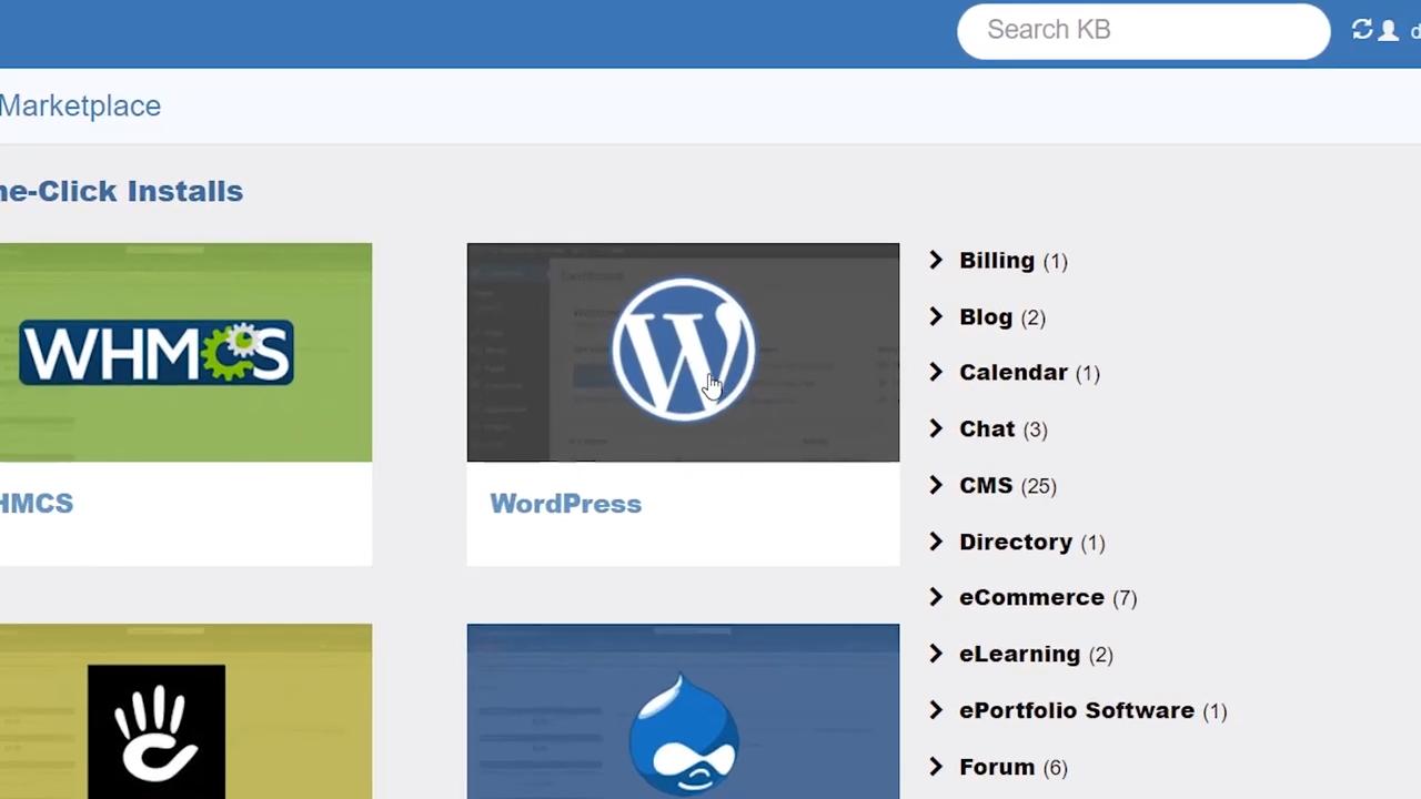 hostgator one click wordpress install