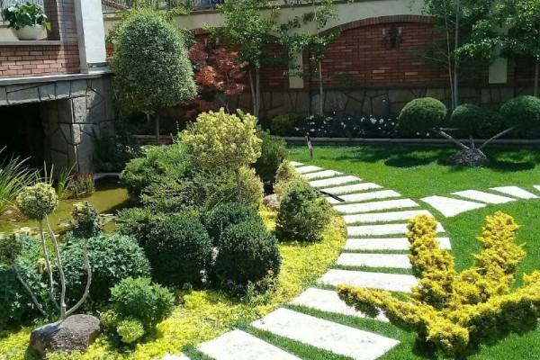 محوطه سازی فضای سبز در تبریز