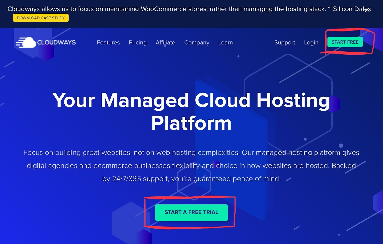 start a free trial of cloudways - cloudways review