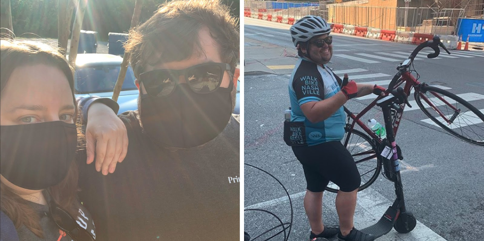 Matt enjoys cycling