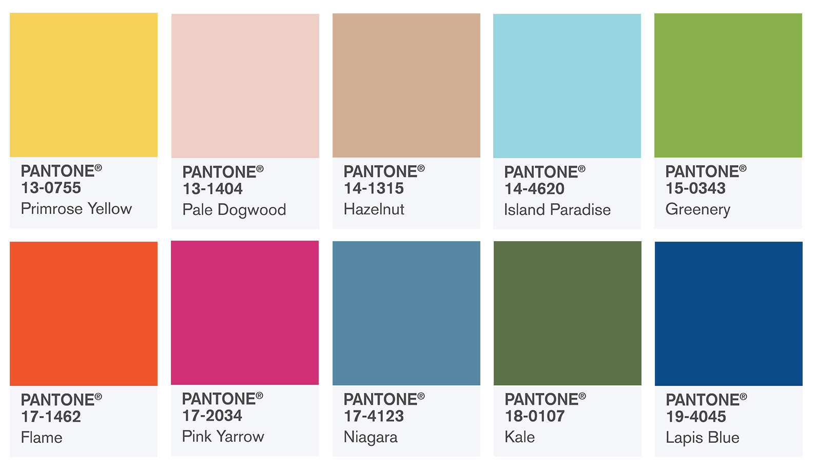 Interior Design Color Ideas - Panatone's Spring 2017 at CIH Design