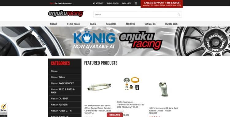 automotive e commerce site
