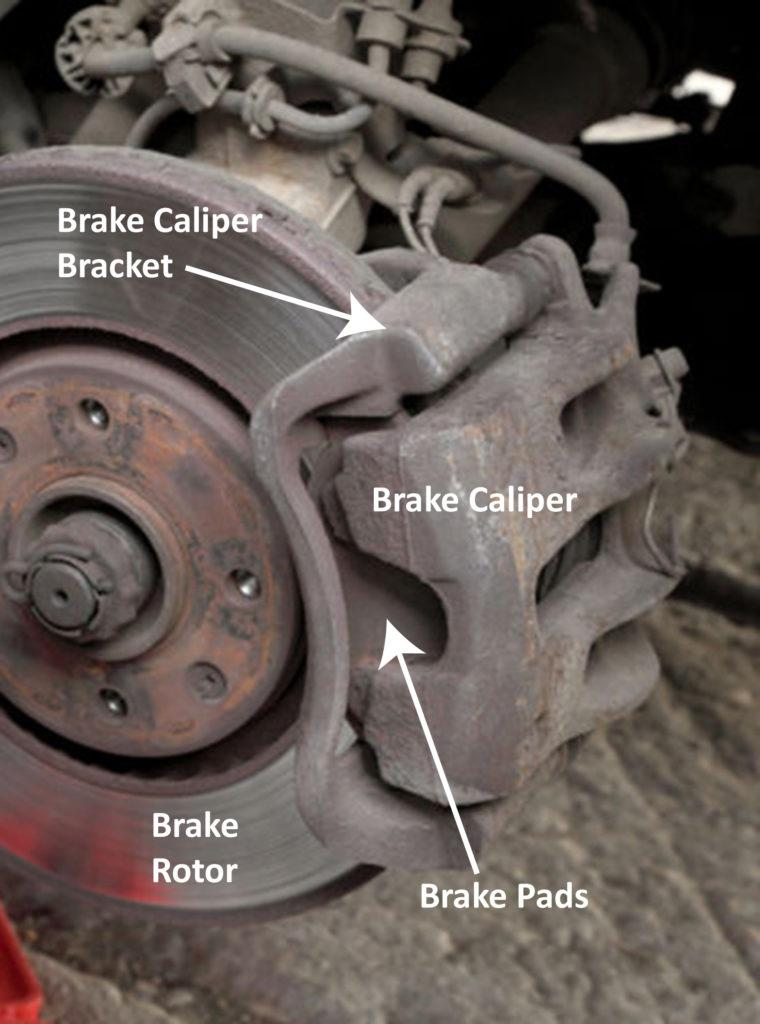 Image result for brakes rotors caliper pins diagram