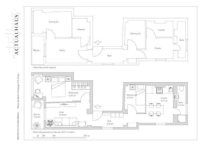 Reforma integral de vivienda en Zaragpza, por Actualhaus.