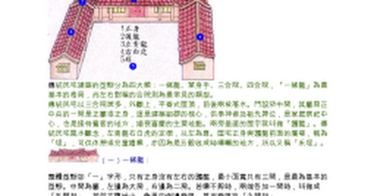 傳統民宅建築 Google Docs
