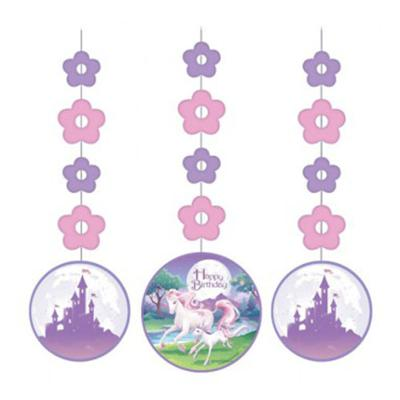 Discount Party Supplies Unicorn Fantasy Party - Hanging Cutouts