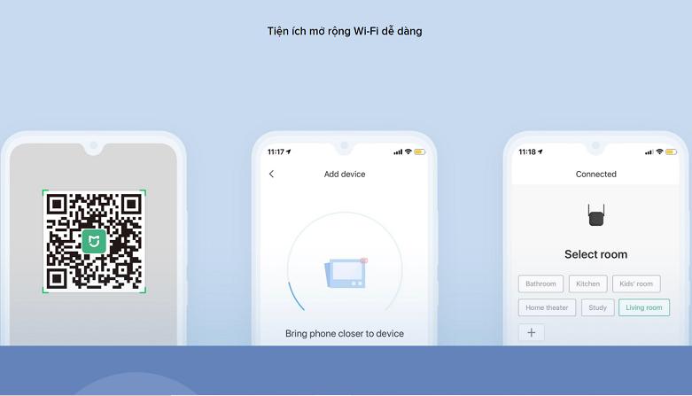 Bộ mở rộng sóng Xiaomi Mi Wifi Range Extender Pro   Mở rộngk wifi