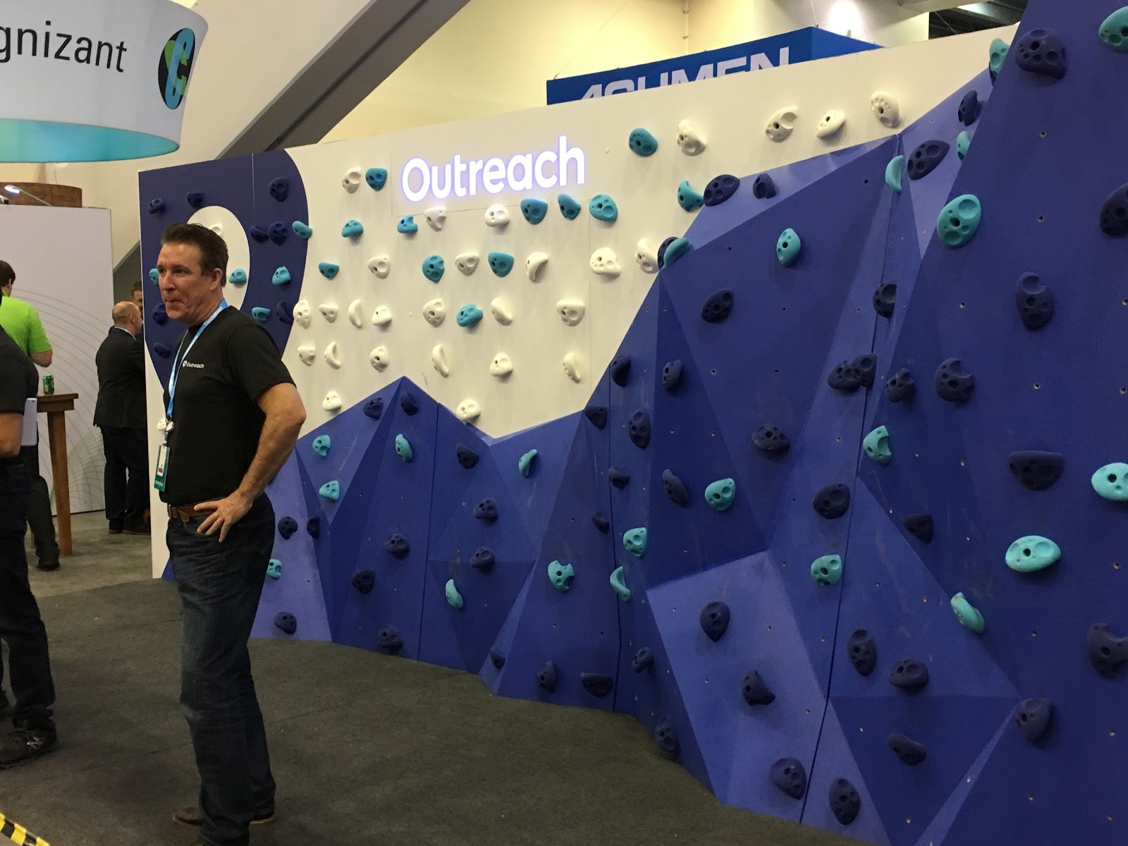 Outreach booth at Dreamforce 2017
