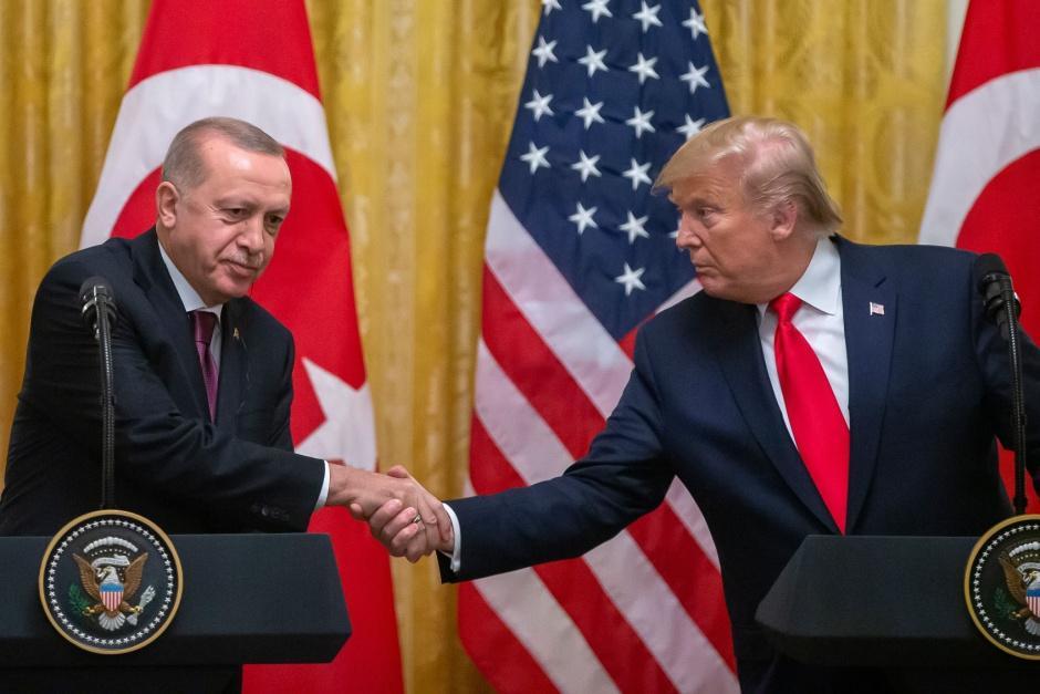 Αποτέλεσμα εικόνας για συνέντευξη τυπου Ερντογάν – Τραμπ…