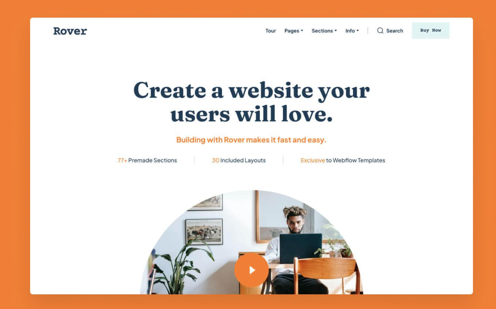 Rover webflow template