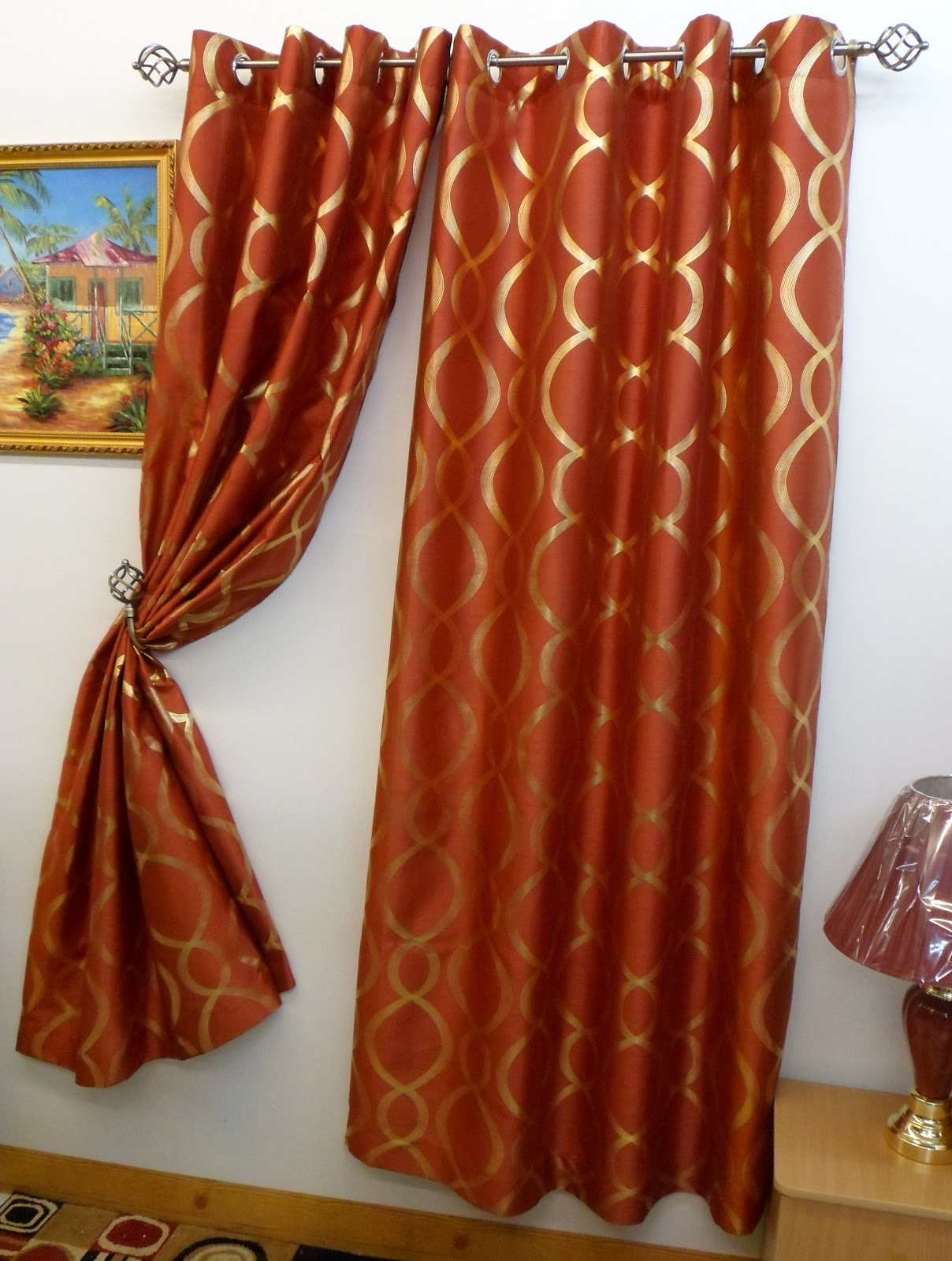 rust colored kitchen curtains chelsea 56 quot x 84 quot faux silk window curtain with 8 grommets 4956