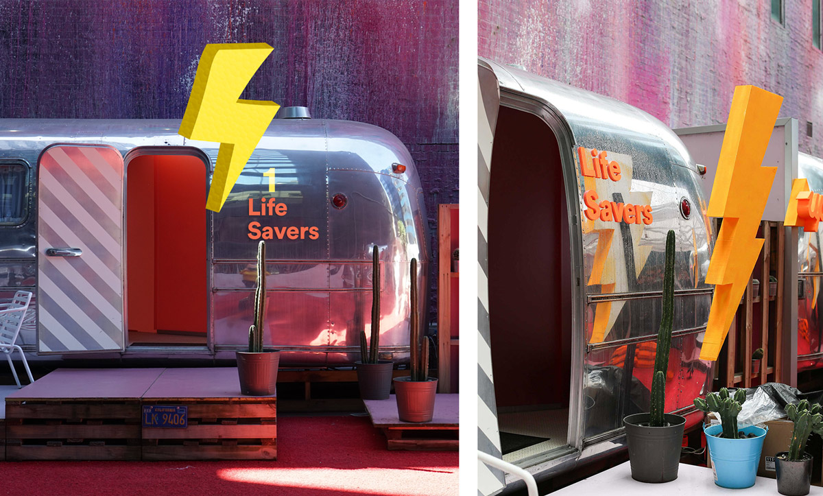 Concept designs for Melbourne launch event (outside airstreams)