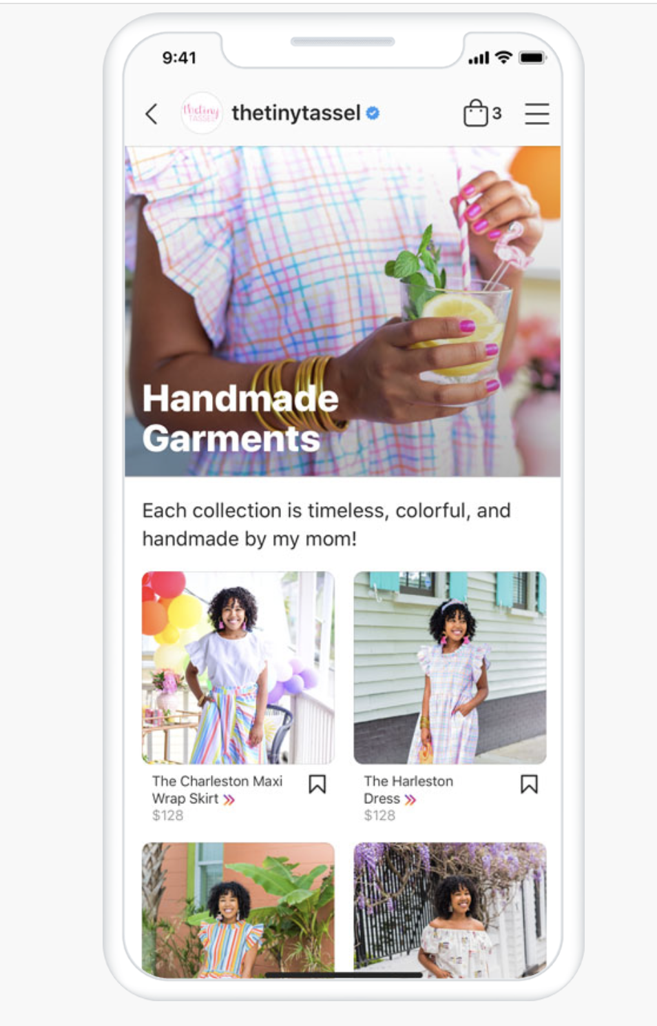 sample Instagram shop